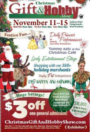 Coupon for Christmas Gift and Hobby Show