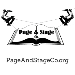 page and stage square logo with large website